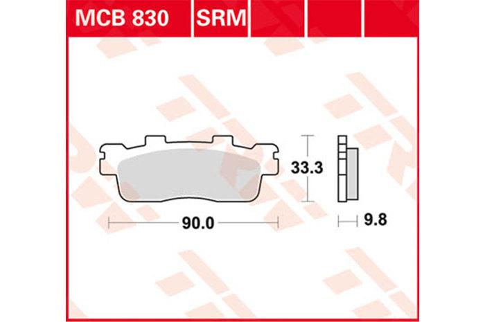 【TRW】煞車來令片  燒結 /速克達和越野車 [MCB830SRM] - 「Webike-摩托百貨」
