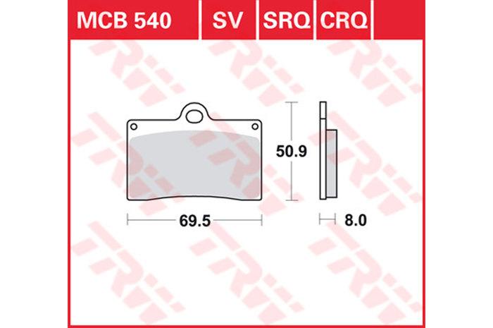 TRW ティーアールダブルBRAKE-PADS SINTER [MCB540SV]