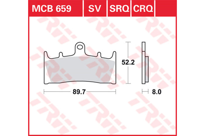 【TRW】煞車來令片 燒結 [MCB659SV] - 「Webike-摩托百貨」