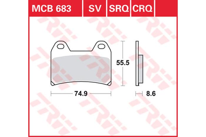 BRAKE-PADS SINTER [MCB683SV]