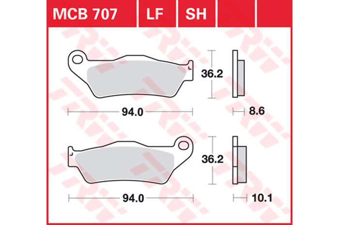 【TRW】有機材料型煞車來令片 [MCB707] - 「Webike-摩托百貨」