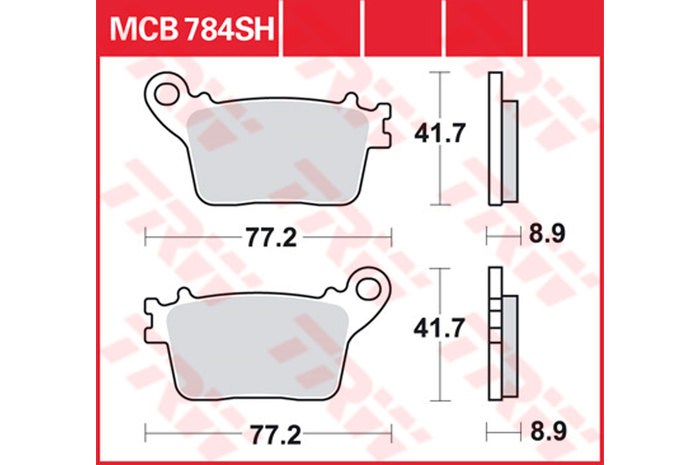 【TRW】煞車來令片 燒結 [MCB784SH] - 「Webike-摩托百貨」