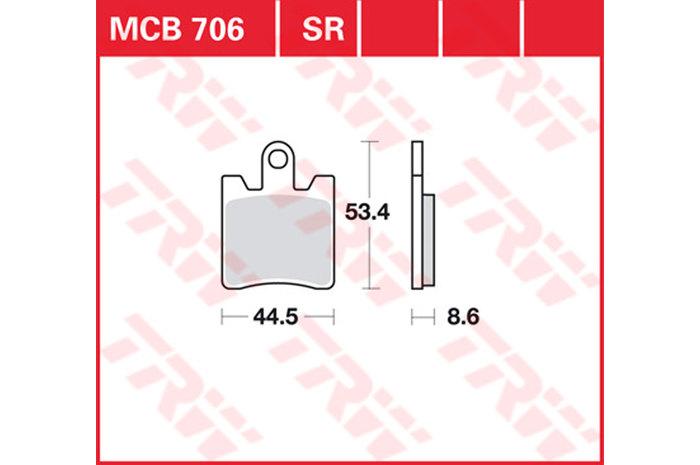 【TRW】煞車來令片 燒結 [MCB706SRM] - 「Webike-摩托百貨」