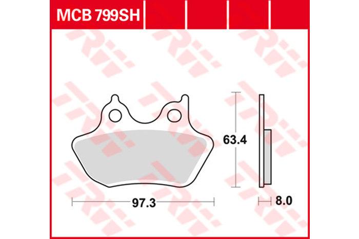 【TRW】煞車來令片 燒結 [MCB799SH] - 「Webike-摩托百貨」