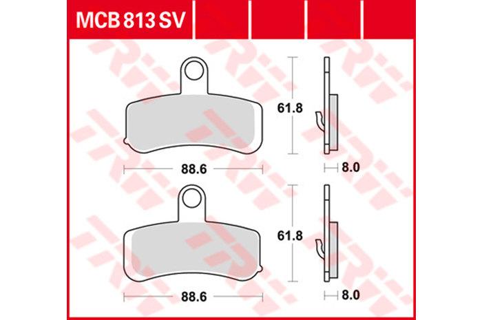 【TRW】煞車來令片 燒結 [MCB813SV] - 「Webike-摩托百貨」