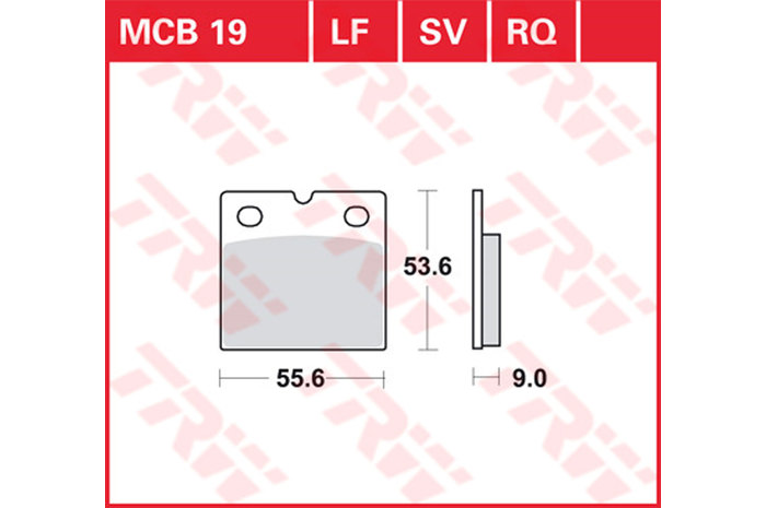 【TRW】有機材料型煞車來令片 [MCB019] - 「Webike-摩托百貨」