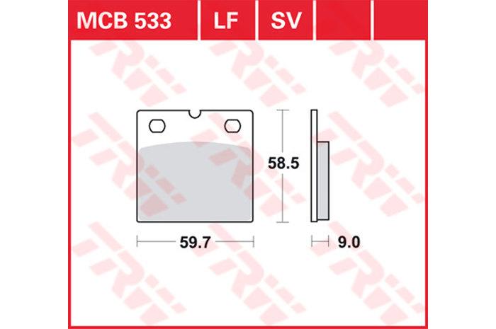 【TRW】煞車來令片  燒結 [MCB533SV] - 「Webike-摩托百貨」