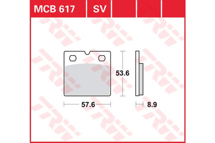 【TRW】有機材料型煞車來令片 [MCB617] - 「Webike-摩托百貨」