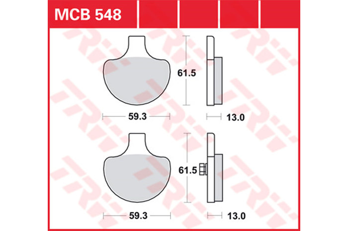 【TRW】有機材料型煞車來令片 [MCB548] - 「Webike-摩托百貨」