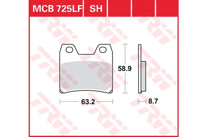 【TRW】有機材料型煞車來令片 [MCB725LF] - 「Webike-摩托百貨」