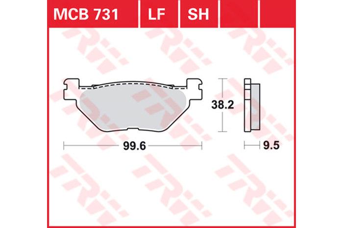 【TRW】有機材料型煞車來令片 [MCB731] - 「Webike-摩托百貨」
