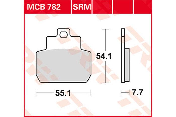 【TRW】有機材料型煞車來令片 /速克達和越野車 [MCB782SRM] - 「Webike-摩托百貨」
