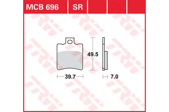 【TRW】有機材料型煞車來令片 /速克達和越野車 [MCB696EC] - 「Webike-摩托百貨」