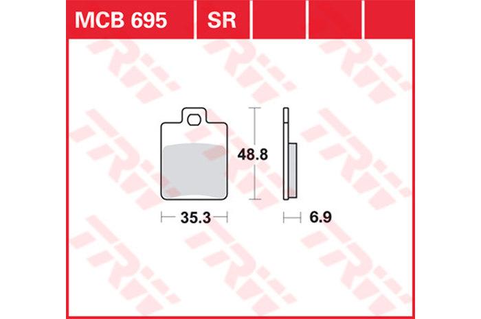 【TRW】有機材料型煞車來令片 /速克達和越野車 [MCB695EC] - 「Webike-摩托百貨」