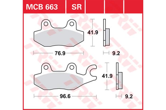 TRW ティーアールダブルBRAKE-PADS ORGANIC Scooters and Offroad [MCB663EC]