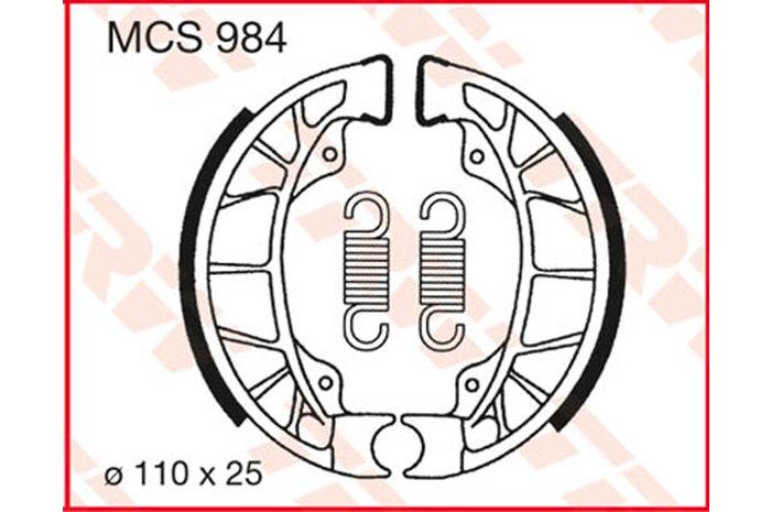 BRAKE-SHOES ORGANIC [MCS984]