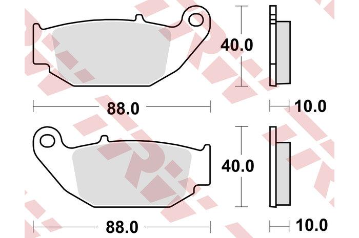 【TRW】有機材料型煞車來令片 [MCB867] - 「Webike-摩托百貨」