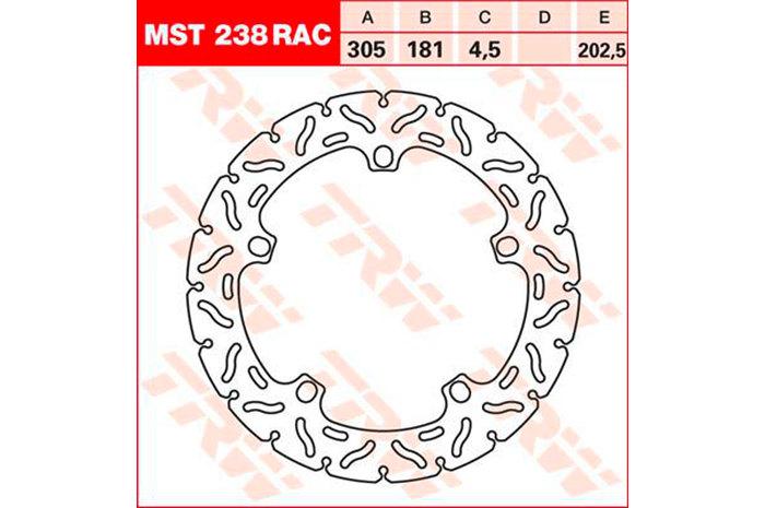 TRW ティーアールダブルBRAKE-DISCS RACING [MST238RAC2]