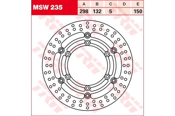 TRW ティーアールダブルBRAKE-DISCS [MSW235]