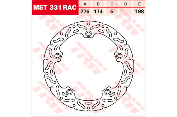 TRW ティーアールダブルBRAKE-DISCS RACING [MST331RAC2]