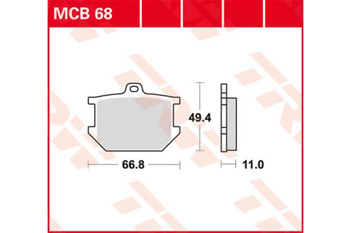 【TRW】有機材料型煞車來令片 [MCB068] - 「Webike-摩托百貨」