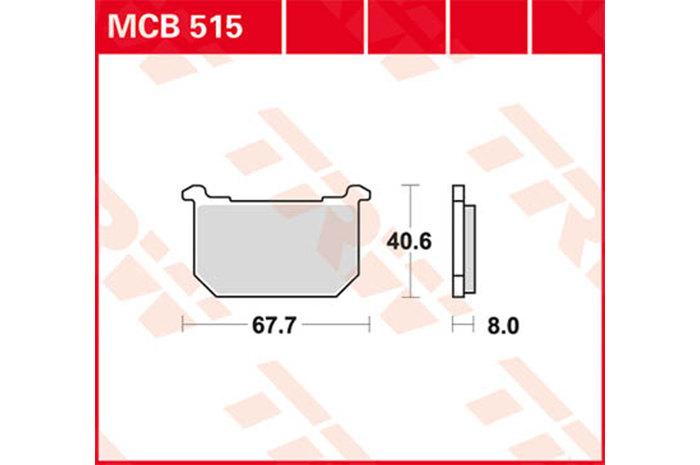 【TRW】有機材料型煞車來令片 [MCB515] - 「Webike-摩托百貨」