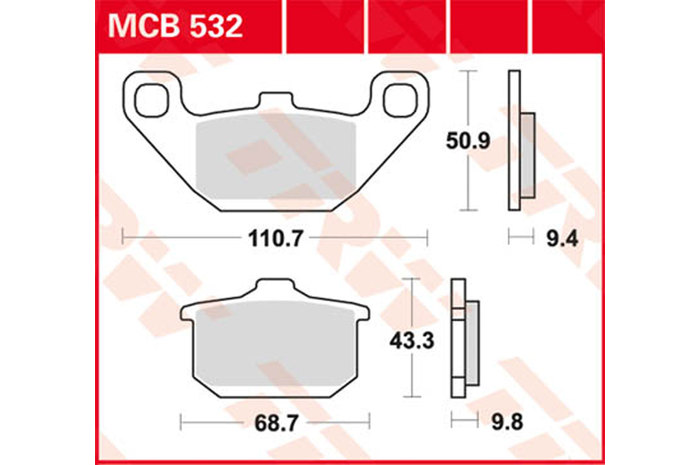 【TRW】有機材料型煞車來令片 [MCB532] - 「Webike-摩托百貨」