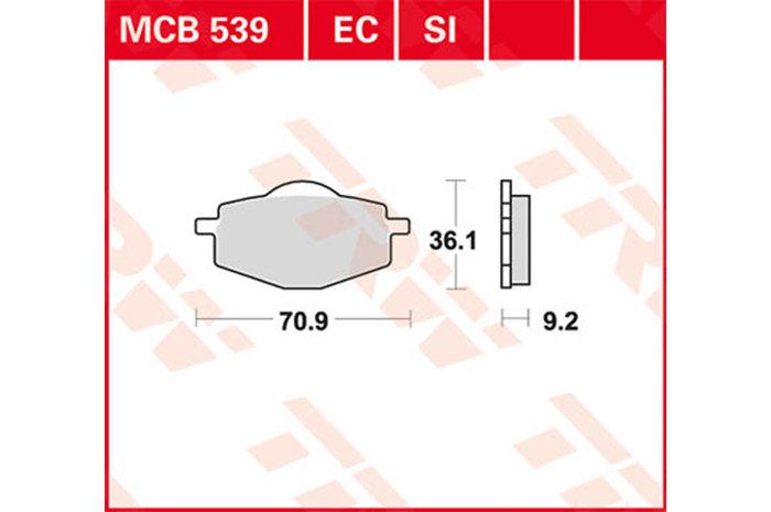【TRW】有機材料型煞車來令片 [MCB539] - 「Webike-摩托百貨」