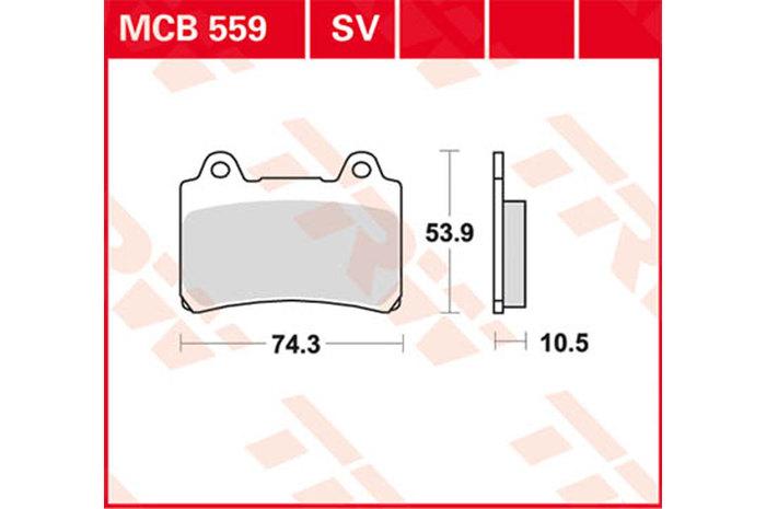 TRW ティーアールダブルBRAKE-PADS ORGANIC [MCB559]