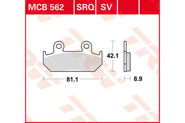 【TRW】有機材料型煞車來令片 [MCB562] - 「Webike-摩托百貨」
