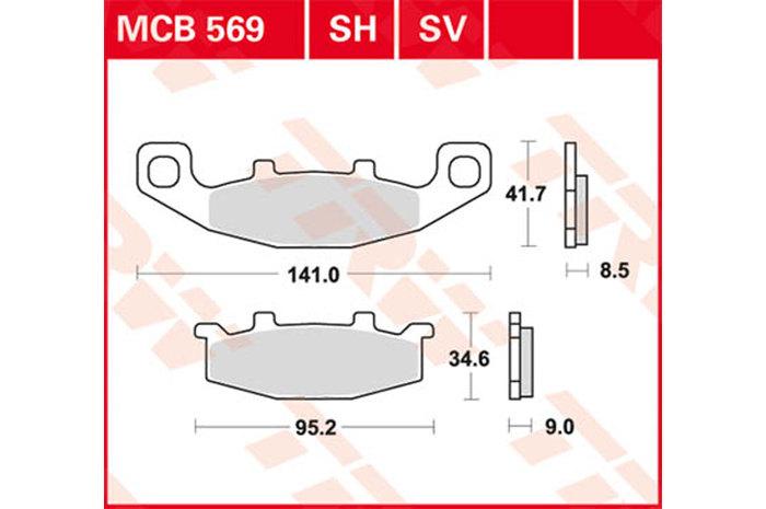 【TRW】有機材料型煞車來令片 [MCB569] - 「Webike-摩托百貨」
