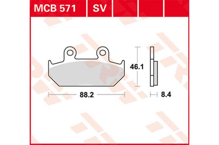 【TRW】有機材料型煞車來令片 [MCB571] - 「Webike-摩托百貨」