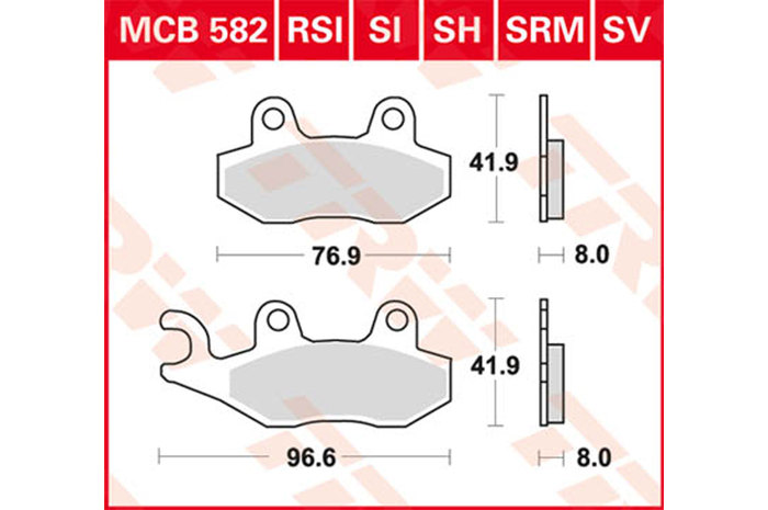 【TRW】有機材料型煞車來令片 [MCB582] - 「Webike-摩托百貨」