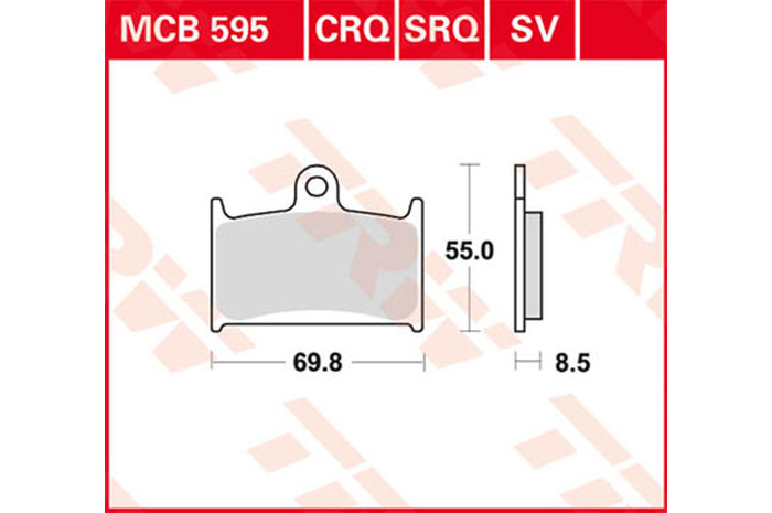 【TRW】有機材料型煞車來令片 [MCB595] - 「Webike-摩托百貨」