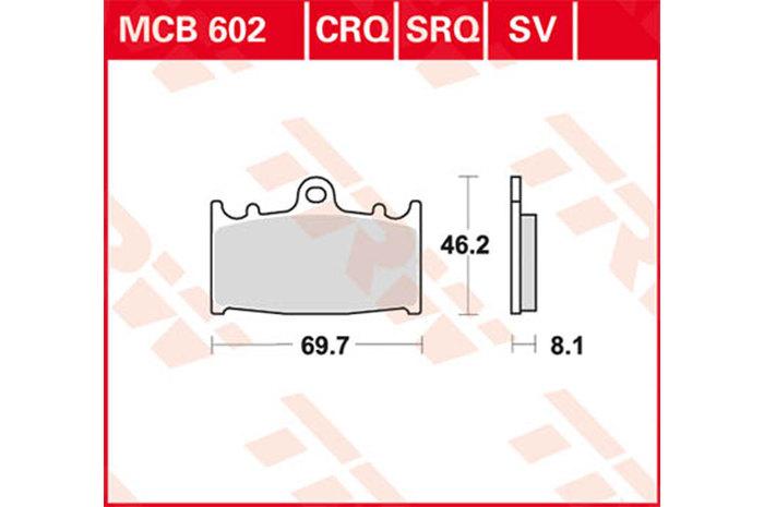 【TRW】有機材料型煞車來令片 [MCB602] - 「Webike-摩托百貨」