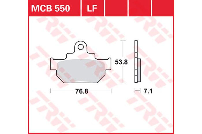 【TRW】有機材料型煞車來令片 [MCB550] - 「Webike-摩托百貨」