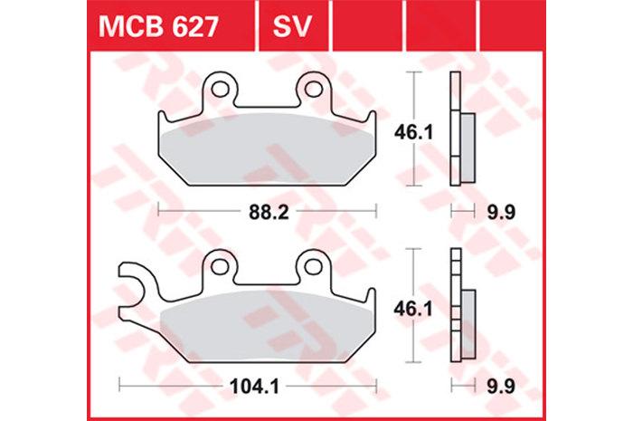 【TRW】有機材料型煞車來令片 [MCB627] - 「Webike-摩托百貨」