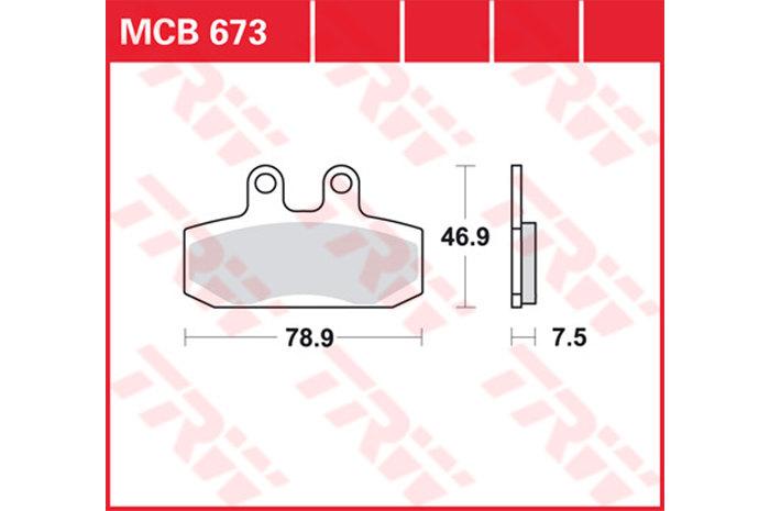 【TRW】有機材料型煞車來令片 /速克達和越野車 [MCB673EC] - 「Webike-摩托百貨」