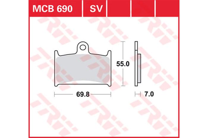 【TRW】煞車來令片 燒結 [MCB690SV] - 「Webike-摩托百貨」