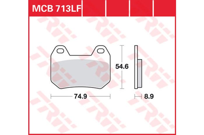 【TRW】有機材料型煞車來令片 [MCB713] - 「Webike-摩托百貨」