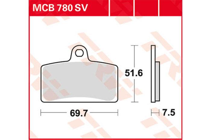 TRW ティーアールダブルBRAKE-PADS ORGANIC [MCB780]