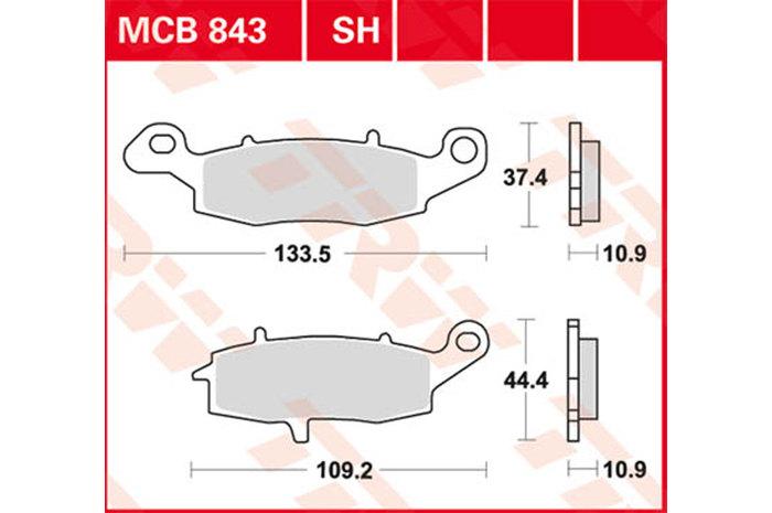 【TRW】有機材料型煞車來令片 [MCB834] - 「Webike-摩托百貨」