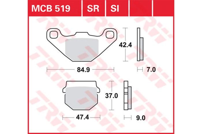 【TRW】有機材料型煞車來令片 /速克達和越野車 [MCB519EC] - 「Webike-摩托百貨」