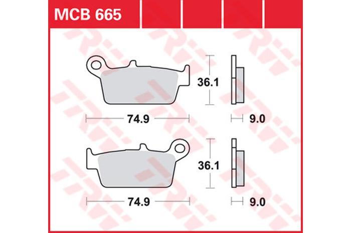 【TRW】有機材料型煞車來令片 /速克達和越野車 [MCB665EC] - 「Webike-摩托百貨」