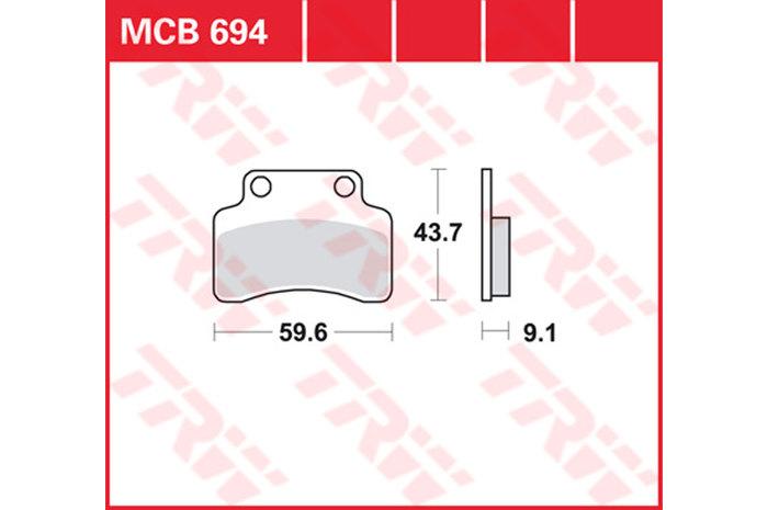 【TRW】有機材料型煞車來令片 /速克達和越野車 [MCB694EC] - 「Webike-摩托百貨」