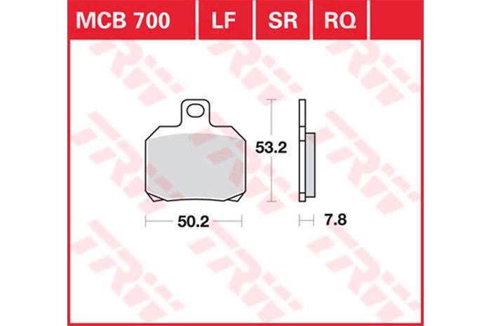 BRAKE-PADS ORGANIC [MCB700]