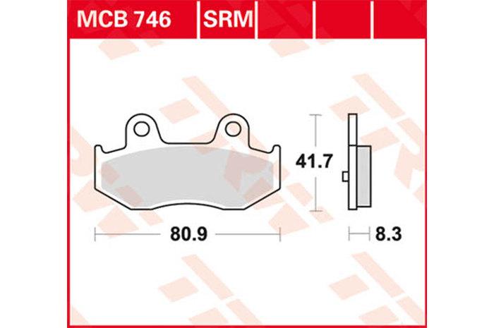 【TRW】煞車來令片  燒結 /速克達和越野車 [MCB746SRM] - 「Webike-摩托百貨」