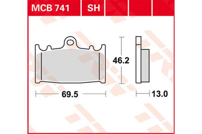 【TRW】有機材料型煞車來令片 [MCB741] - 「Webike-摩托百貨」