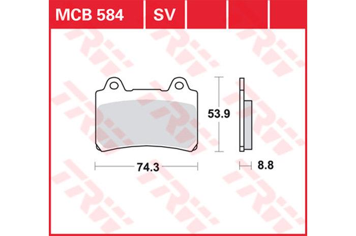【TRW】煞車來令片  燒結 [MCB584SV] - 「Webike-摩托百貨」