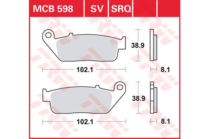 TRW ティーアールダブルBRAKE-PADS SINTER [MCB598SV]